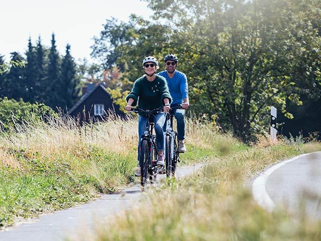 Probefahrt mit unseren E-Bikes